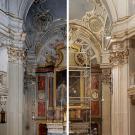 altar maggiore prima e dopo