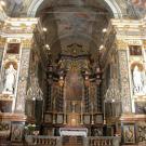 Restauro chiesa della Visitazione a Torino - vista dell'altare principale