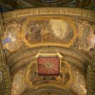 Restauro chiesa S. Teresa a Torino - volta prima del restauro