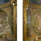 Restauro chiesa S. Teresa a Torino - particolare della volta della cappella di Santa Teresa prima e dopo l'intervento di restauro