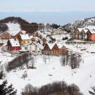 """Borgo """"Stalle Lunghe"""" a Prato Nevoso - vista d'insieme da valle"""