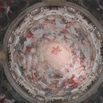 Restauro chiesa della Visitazione a Torino - vista interna degli affreschi della cupola