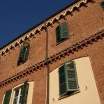 Restauro della Casa della Pace a Chieri - particolare di facciata